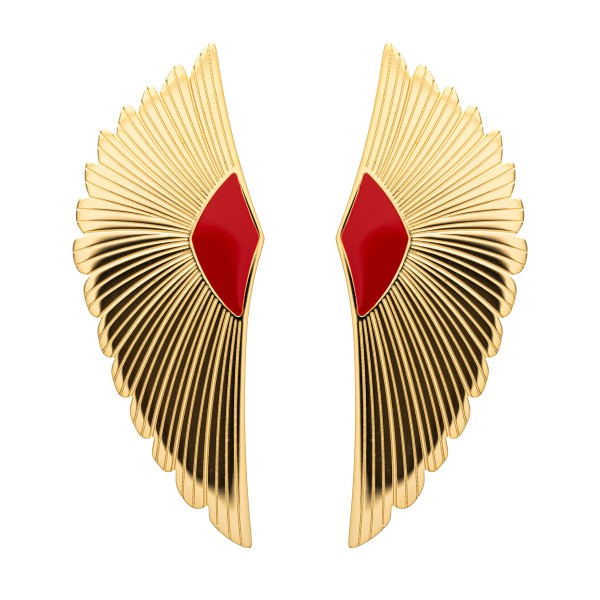 Red wing earring