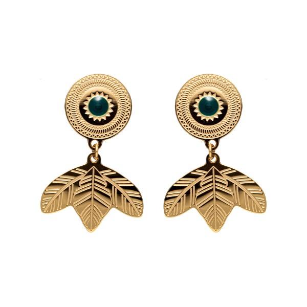 Cali green earring