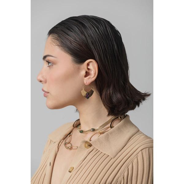 Kenya zoisite hoop earrings