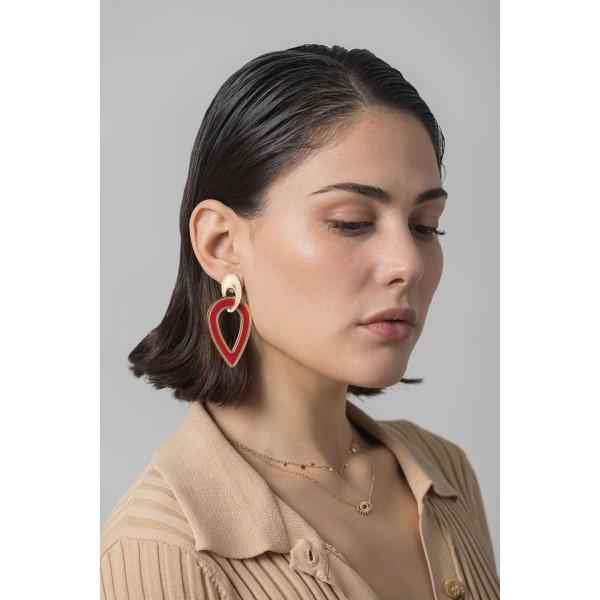Red drop earring
