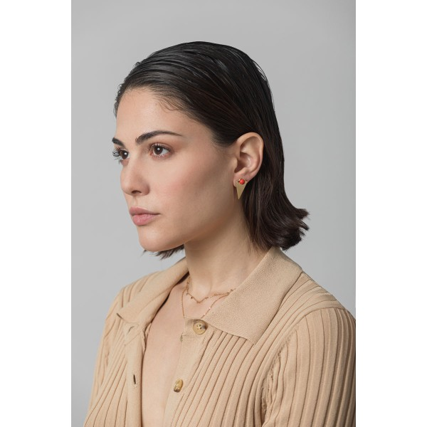Orange peak earring