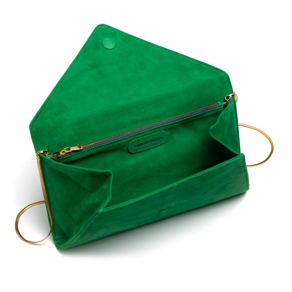 Green tassel clutch