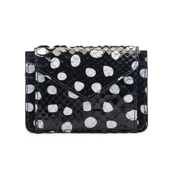 Black polka dot purse