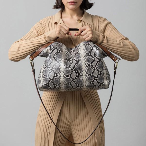 Snake print sack