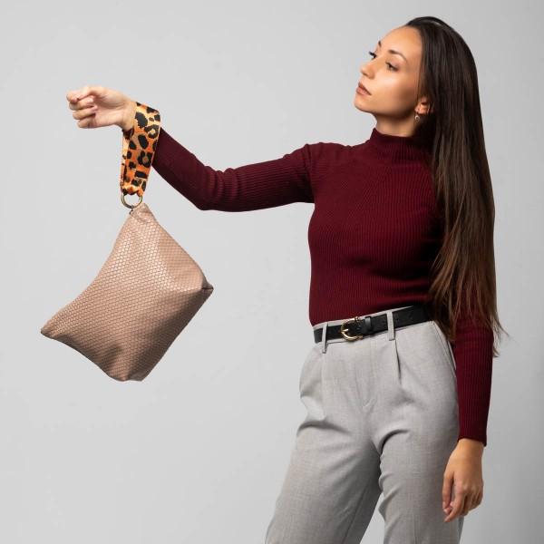 Beaver color pouch