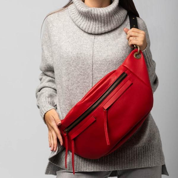 Unisex red L bum bag