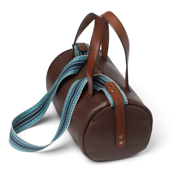 Unisex brown bowling bag
