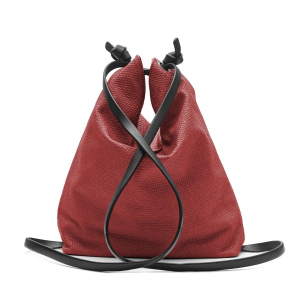 Red convertible backpack