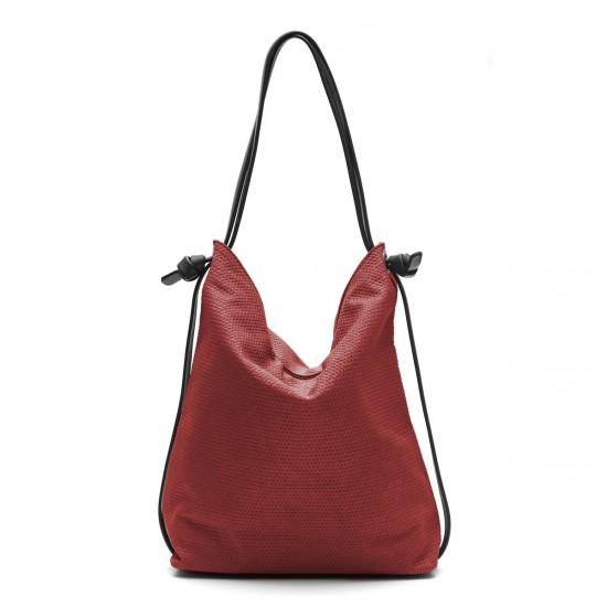 Bolso mochila rojo