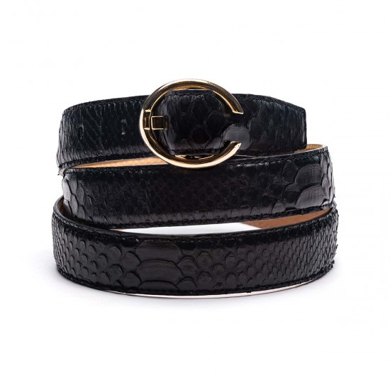 25mm python belt black