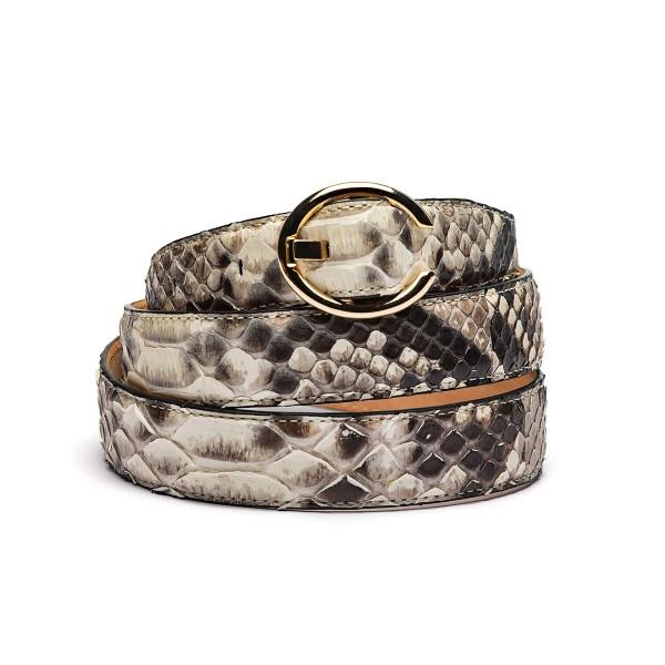 25mm python belt natural