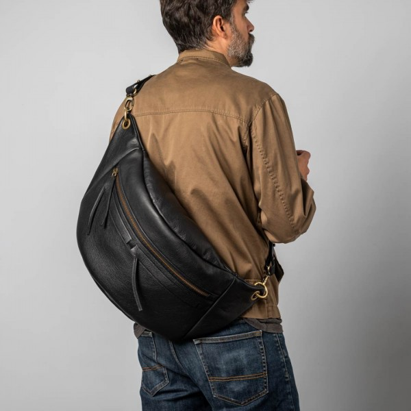 Unisex black XL bum bag
