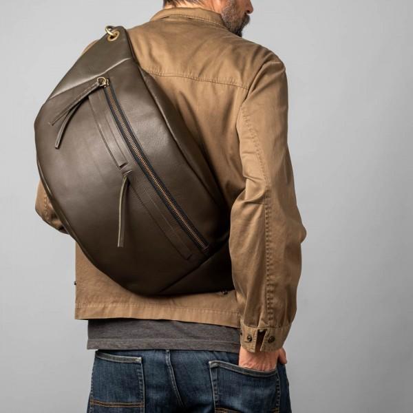 Unisex green XL bum bag
