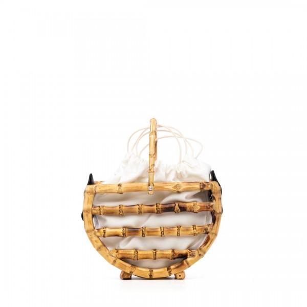 Black bamboo basket