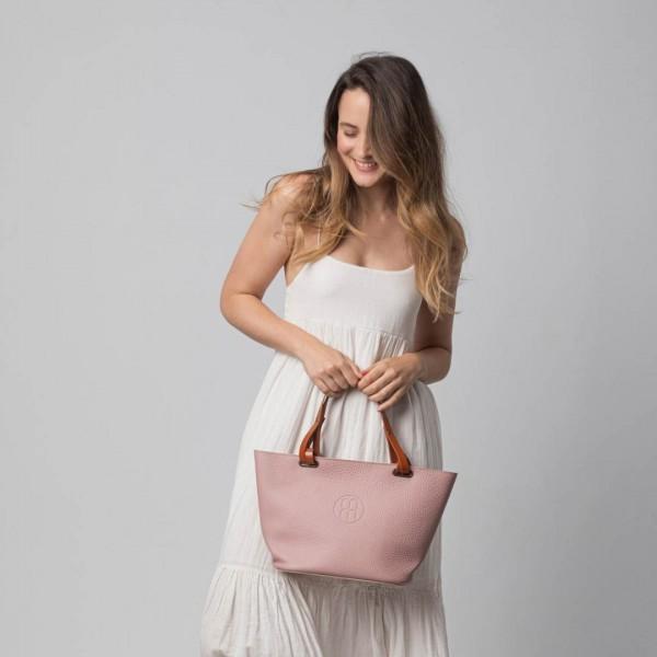 Creta tote bag with short handles