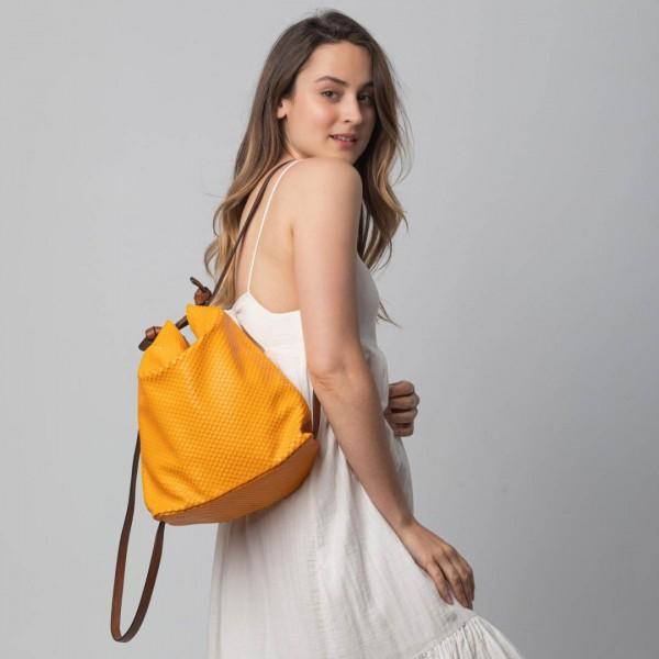 orange convertible backpack
