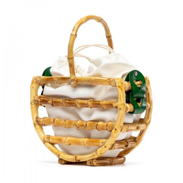 Green Bamboo basket