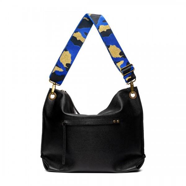 Blue nylon bag strap