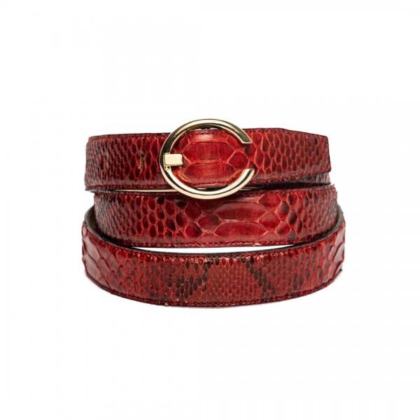 25mm python belt red