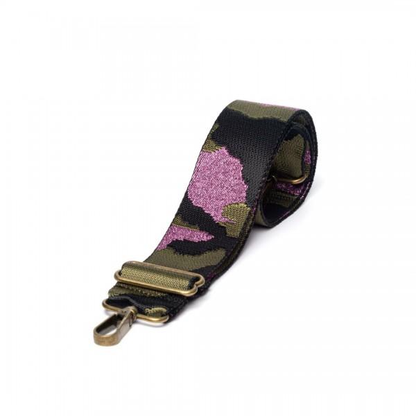 Green nylon bag strap